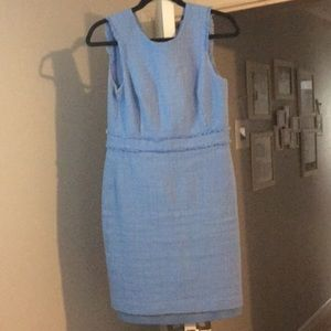 Periwinkle Jcrew fitted dress